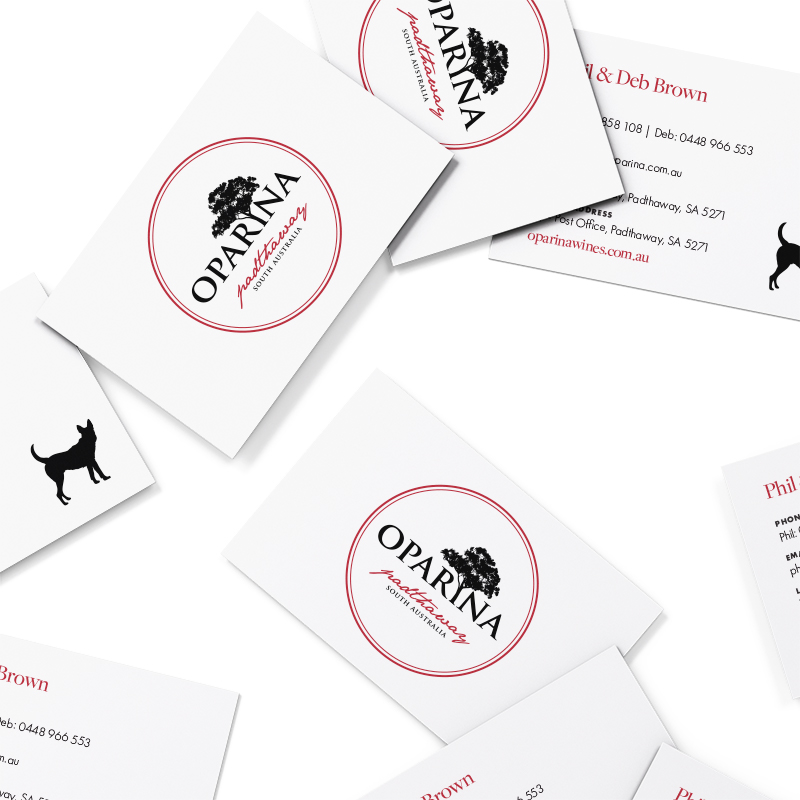 Oparina Wines Business Cards