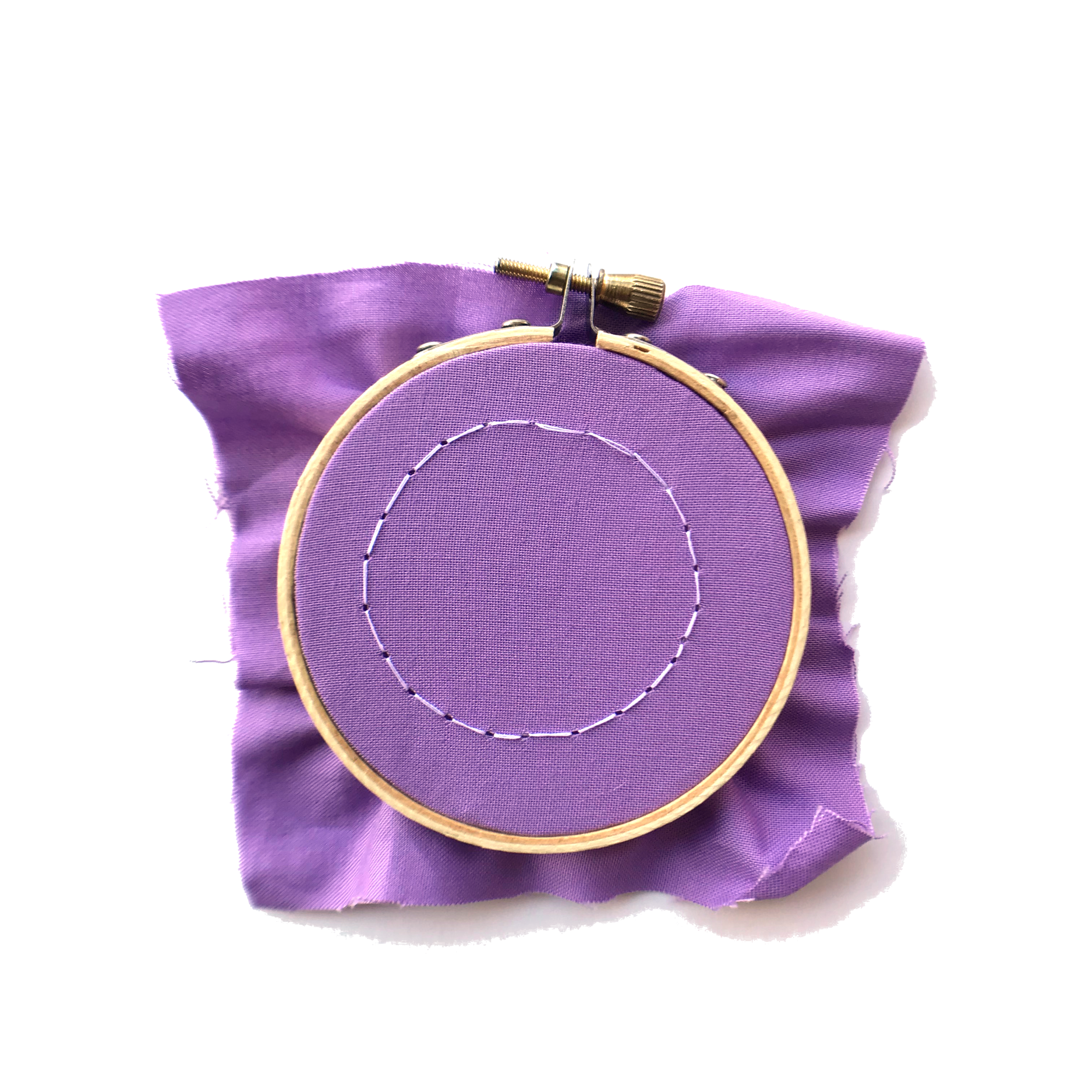 embroidered button tutorial
