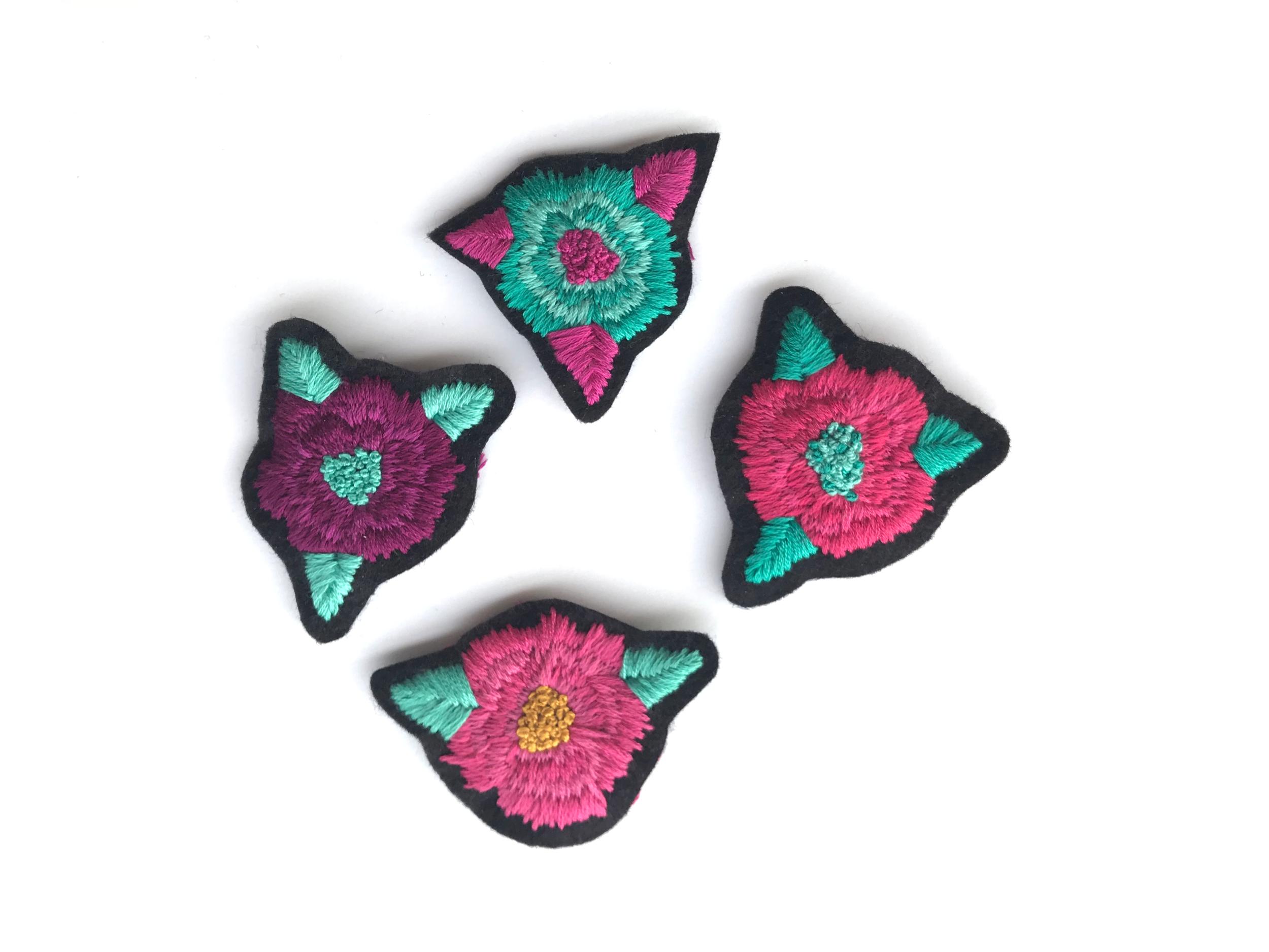 embroidery flower patch - arlene lorenzo art