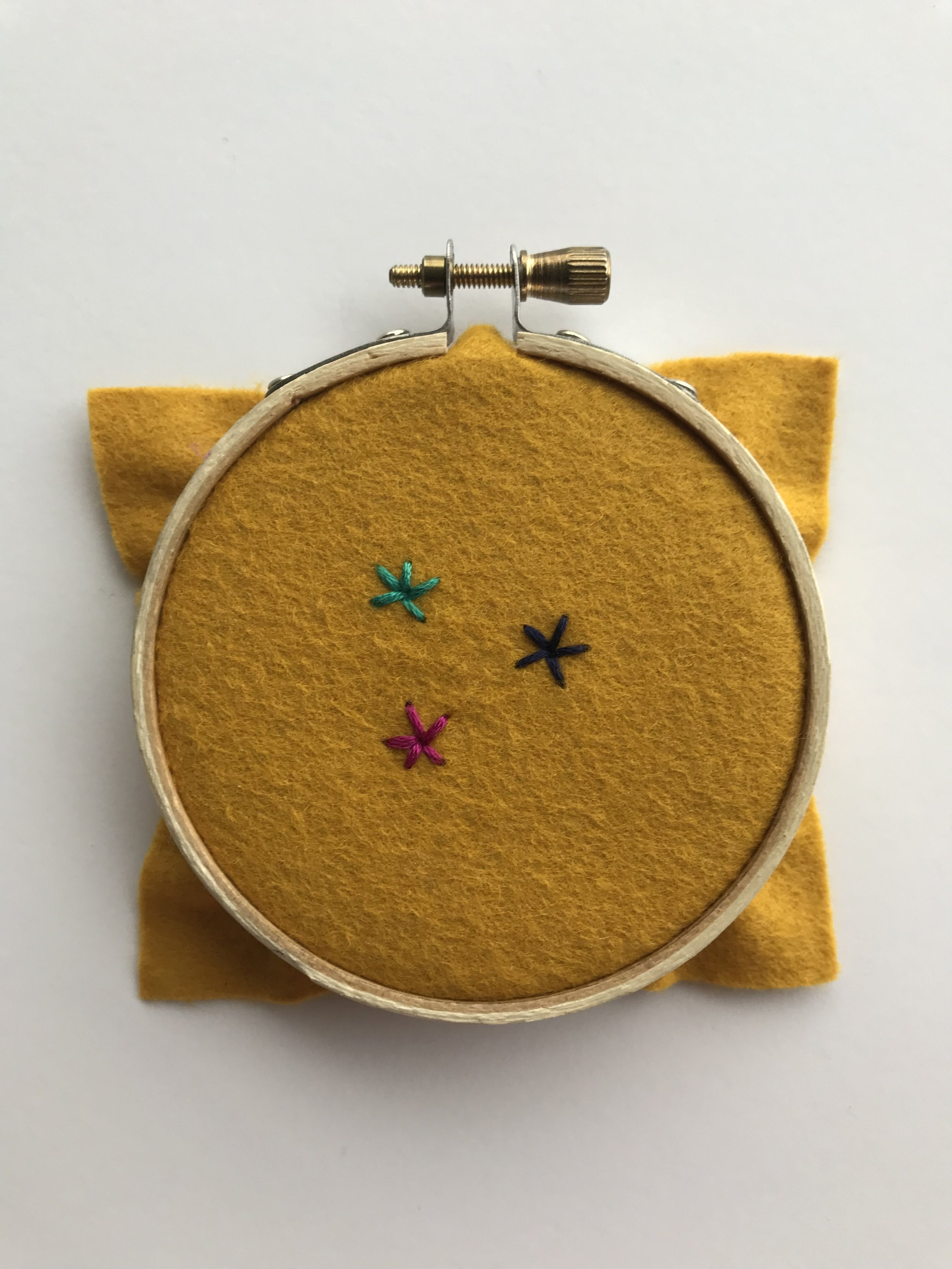 Add your favorite embroidery stitches. Visit my    YouTube channel    to see how to embroider these stitches.