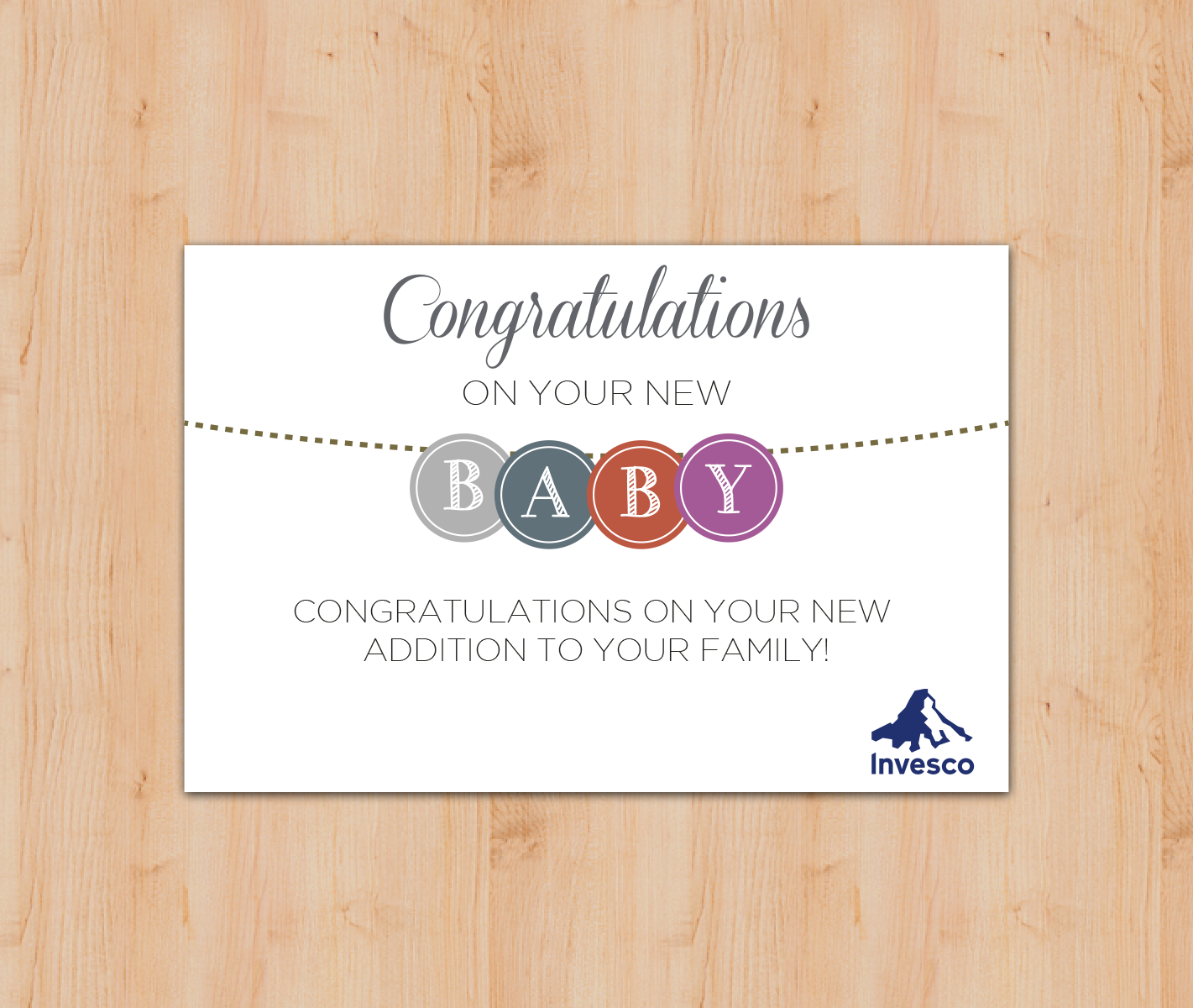 Invesco Baby Cards