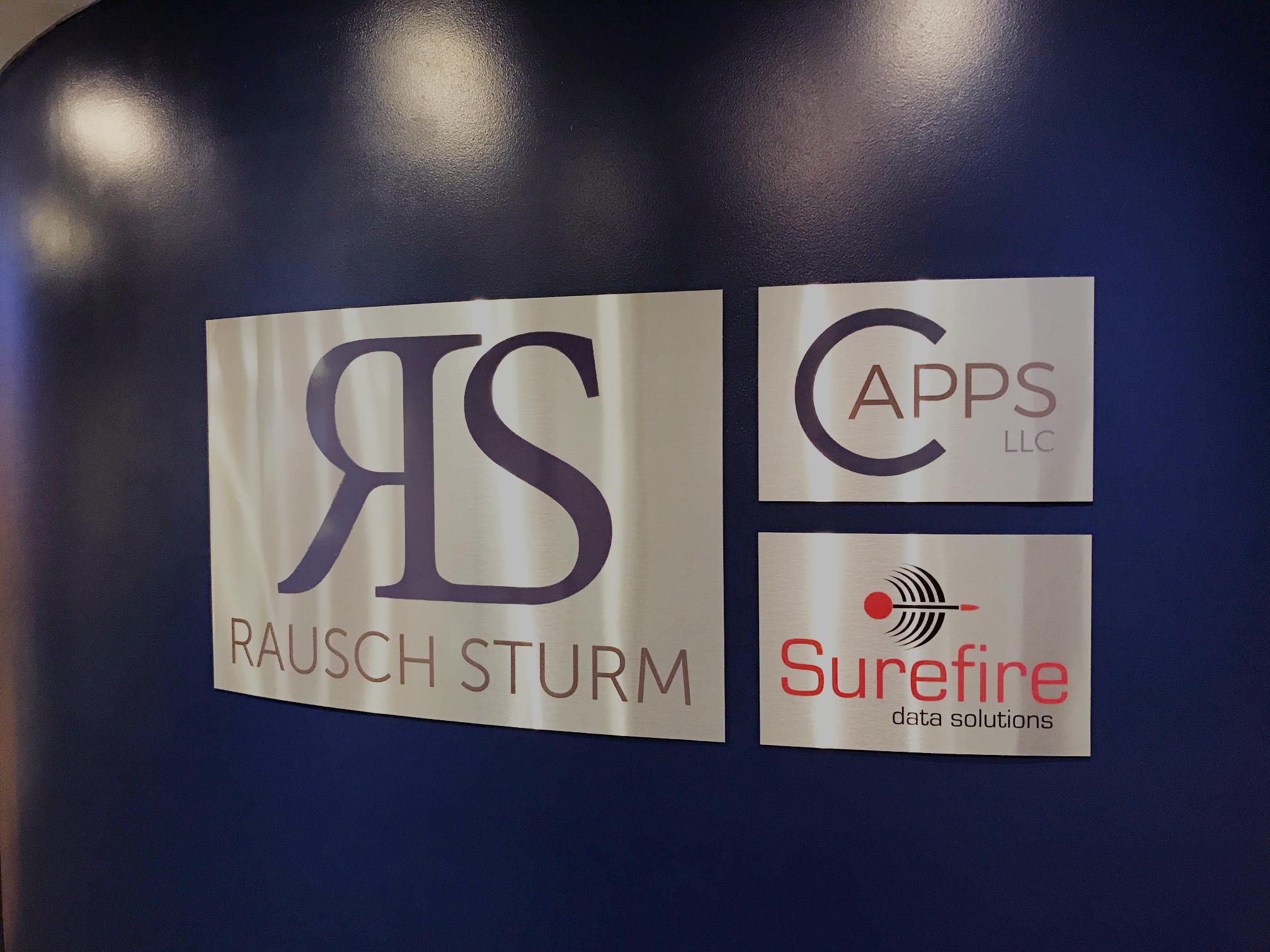 Rausch Sturm Office Signage