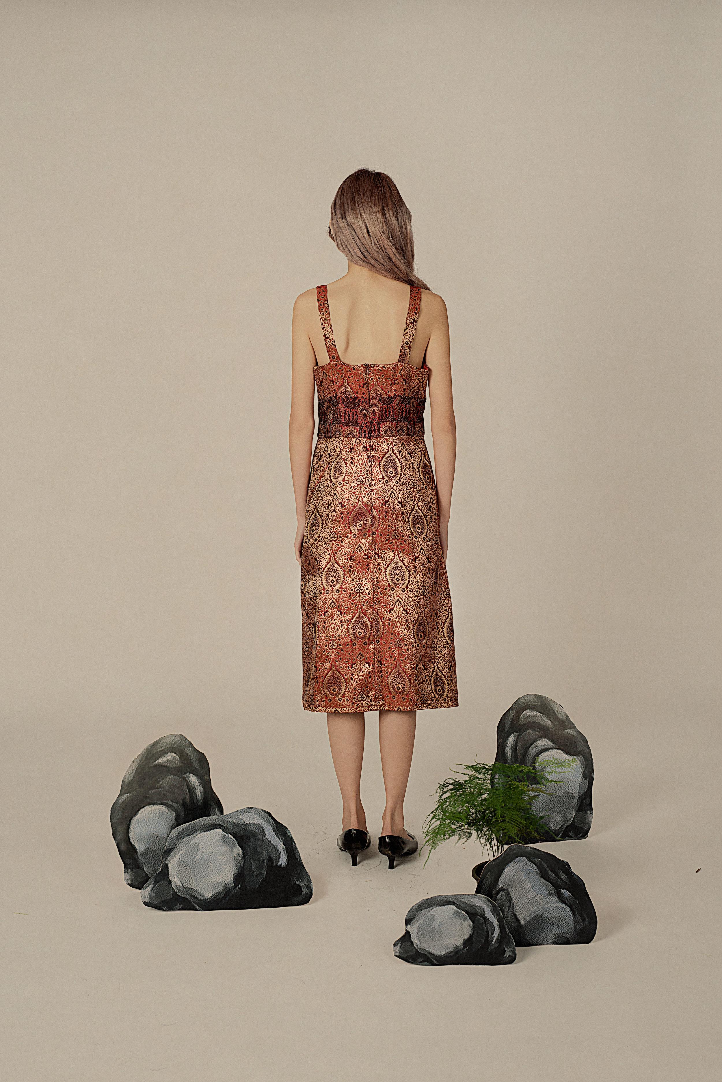 Brocade A-line Dress