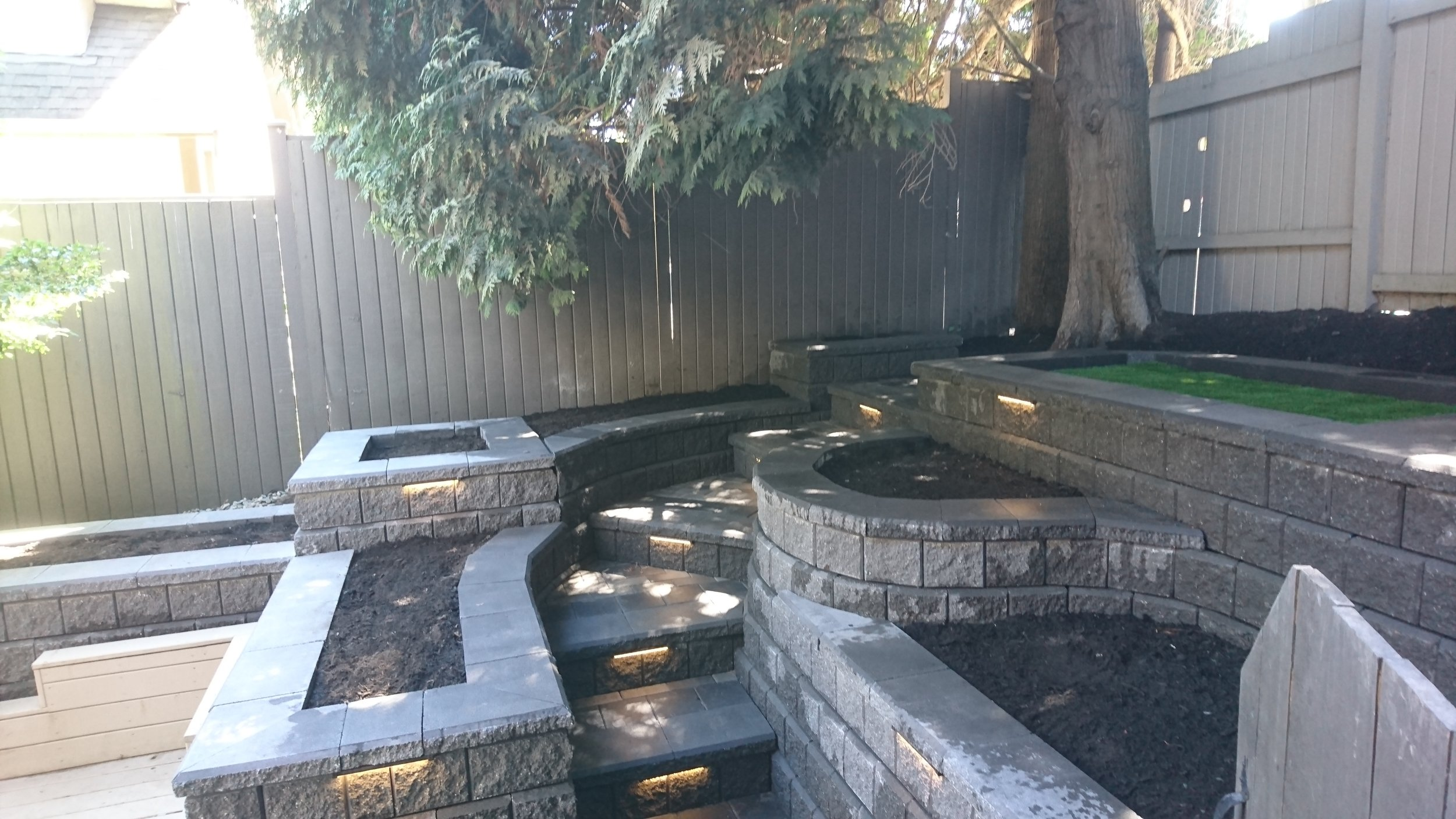 Hardscape   - - Retaining walls- Paving- Planters- Redesign projects- Landscape lighting