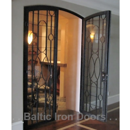 Custom Designed, Hand Forged Wine Cellar Iron Door in Irvine, California