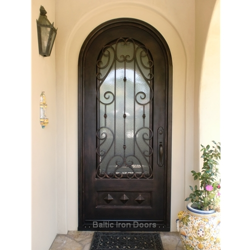 Custom Designed, Hand Forged Wrought Iron Door in Rancho Santa Margarita, California