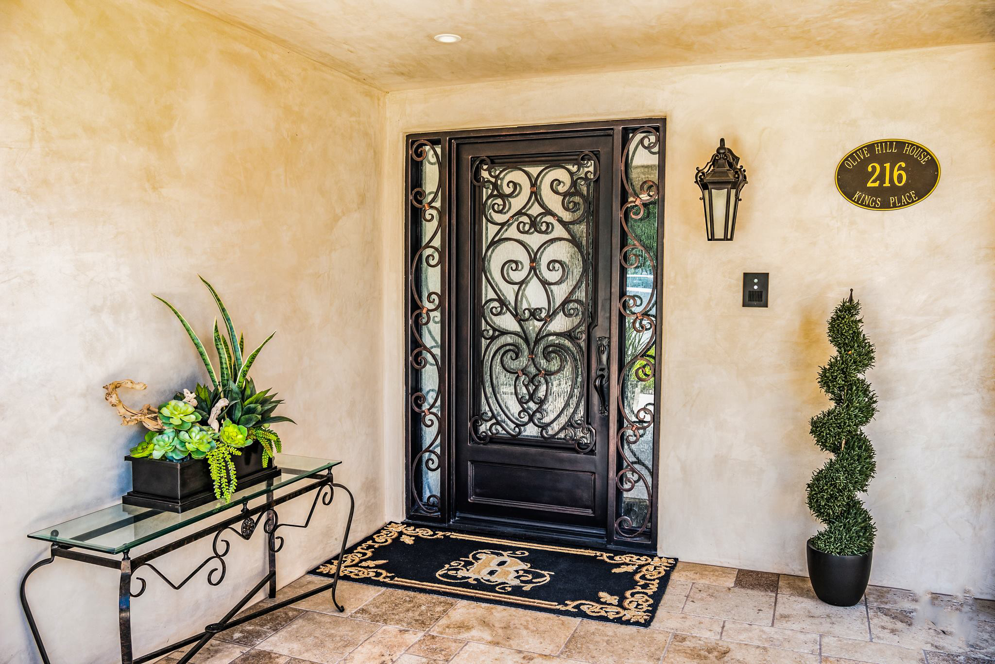 Beautiful Single Iron Door in Irvine, CA by Baltic Iron Doors.jpg
