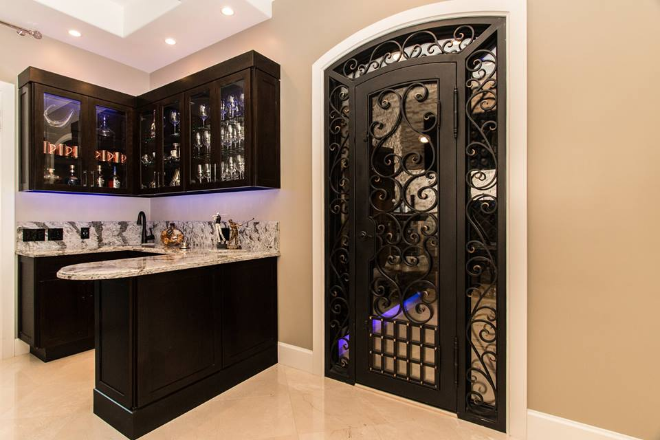 Custom, Hand-Forged Wine Cellar Door in Mission Viejo, CA by Baltic Iron Doors.jpg