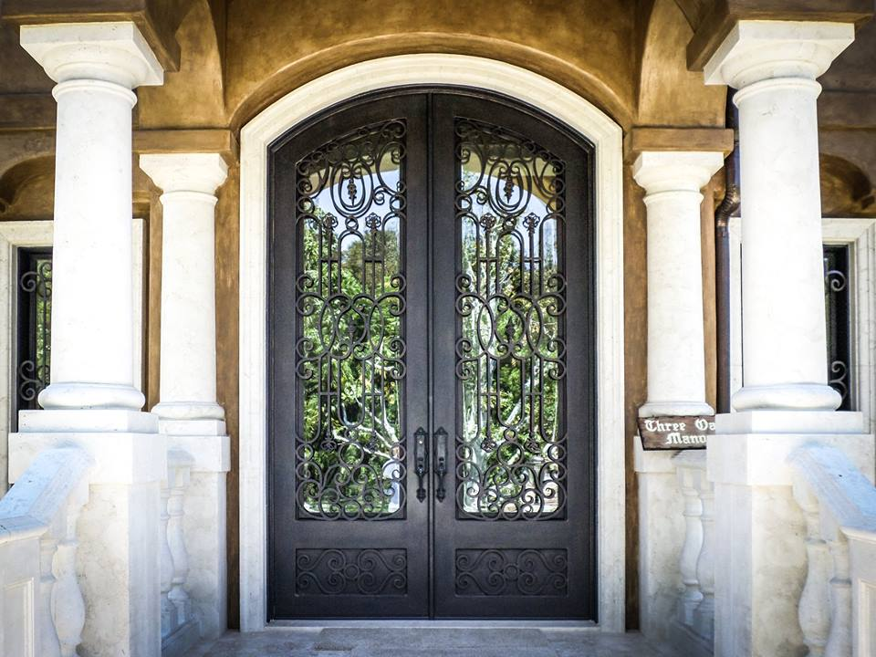 Double Iron Front Entry Door in Newport Beach, CA by Baltic Iron Doors.jpg