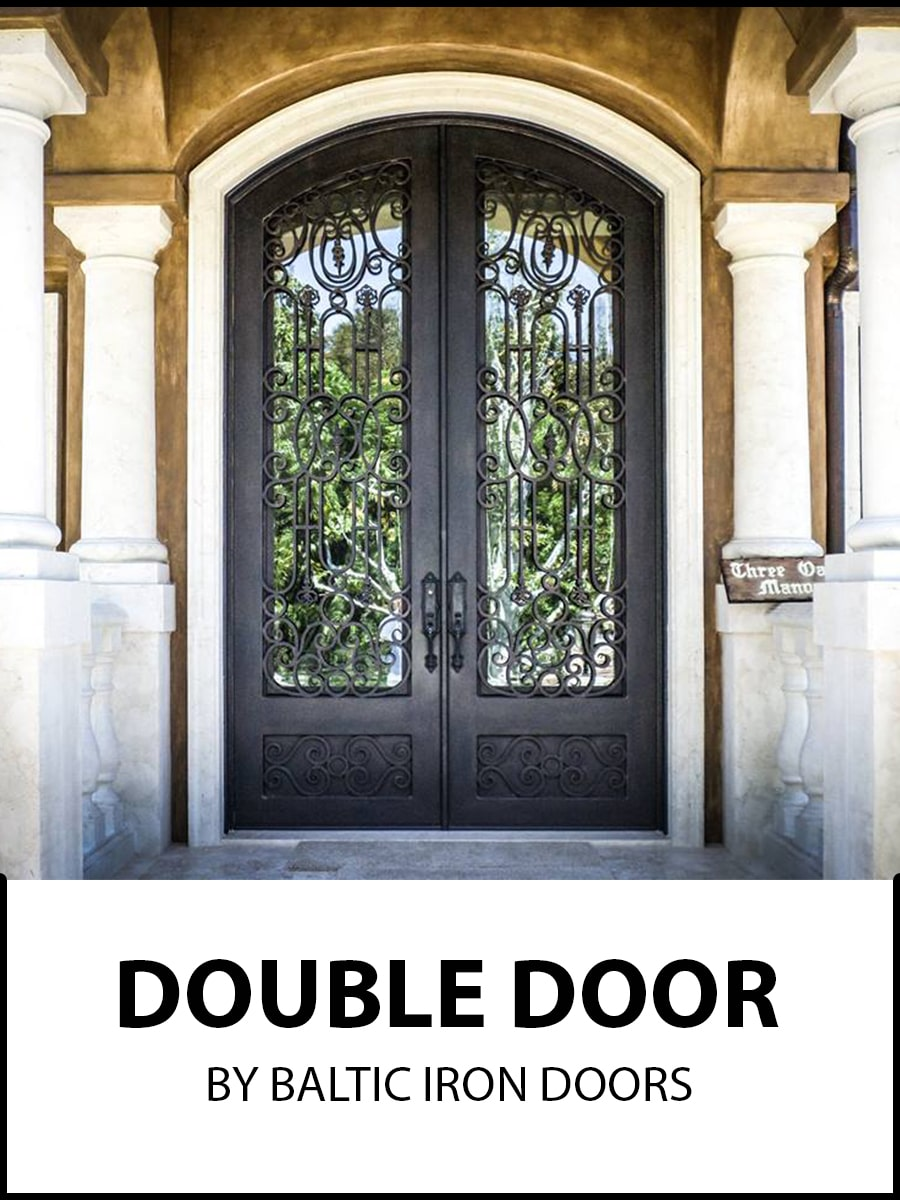 Double Wrought Iron Doors by Baltic Iron Doors
