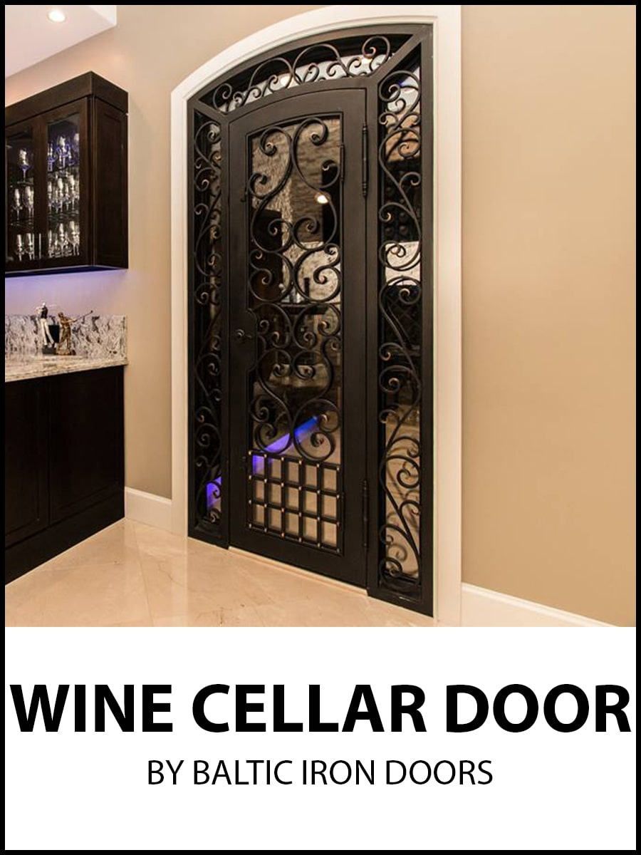 Wine Cellar Wrought Iron Doors by Baltic Iron Doors