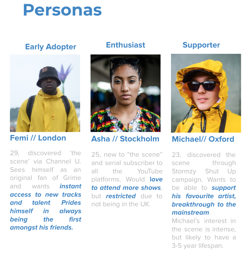 2016 Personas for a Streaming Platform Research
