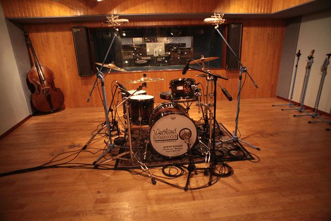Studio 1 - Photography. Westland Studios. Live Room Drum Kit. Music. Dublin, Ireland