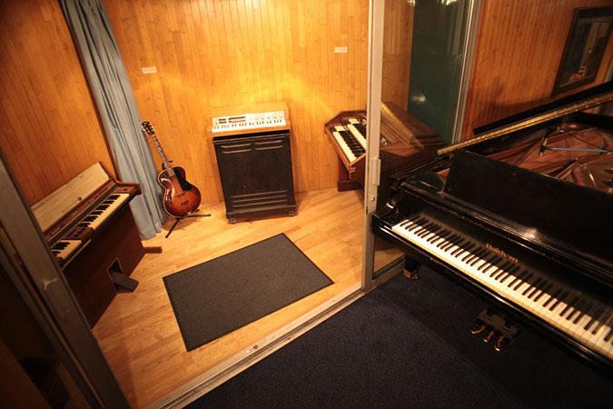 Studio 1 - Photography. Westland Studios. Triangle Booth and Piano. Music. Dublin, Ireland