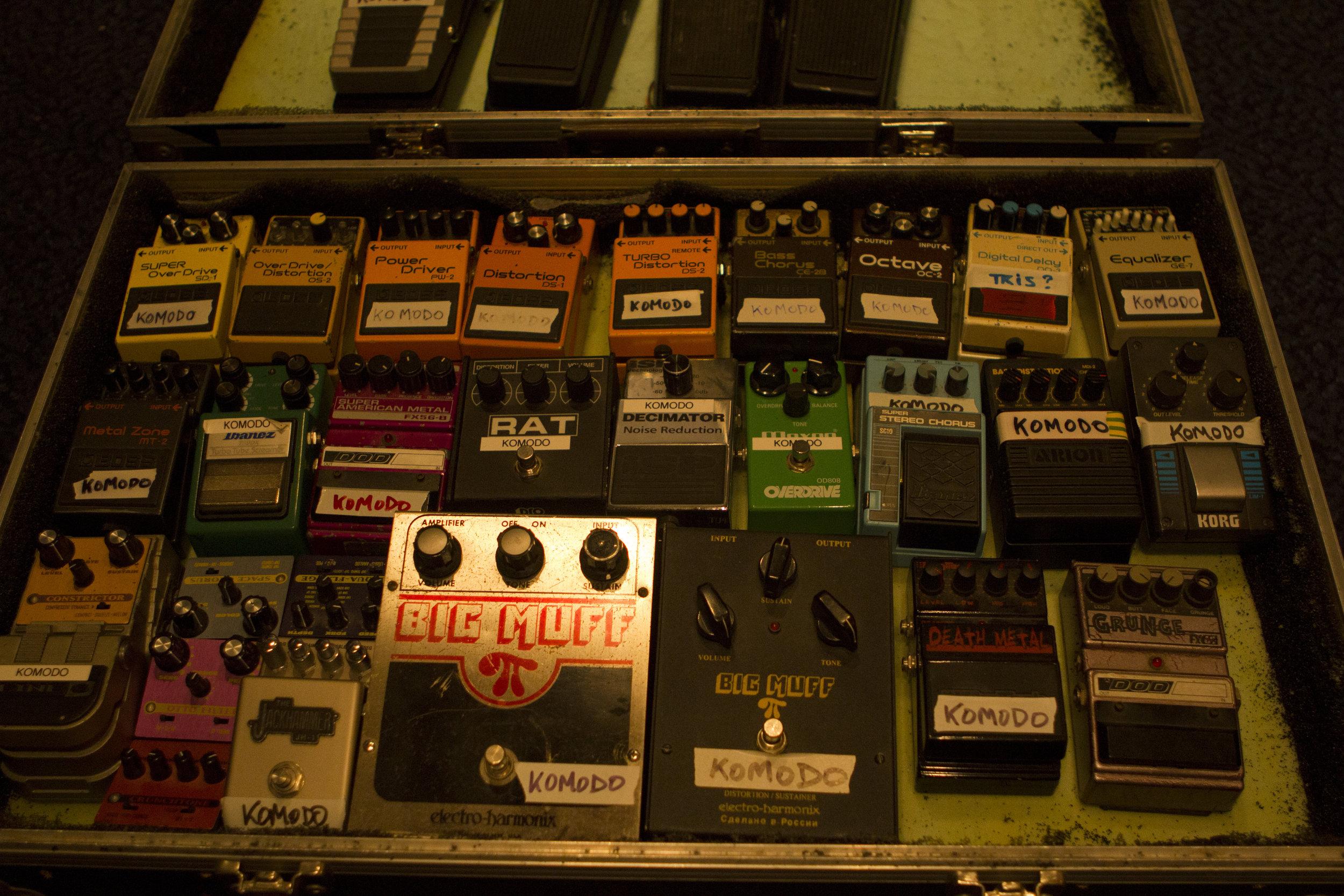 Studio 1 - Photography. Westland Studios. Guitar. Effects. FX Pedals. Music. Dublin, Ireland