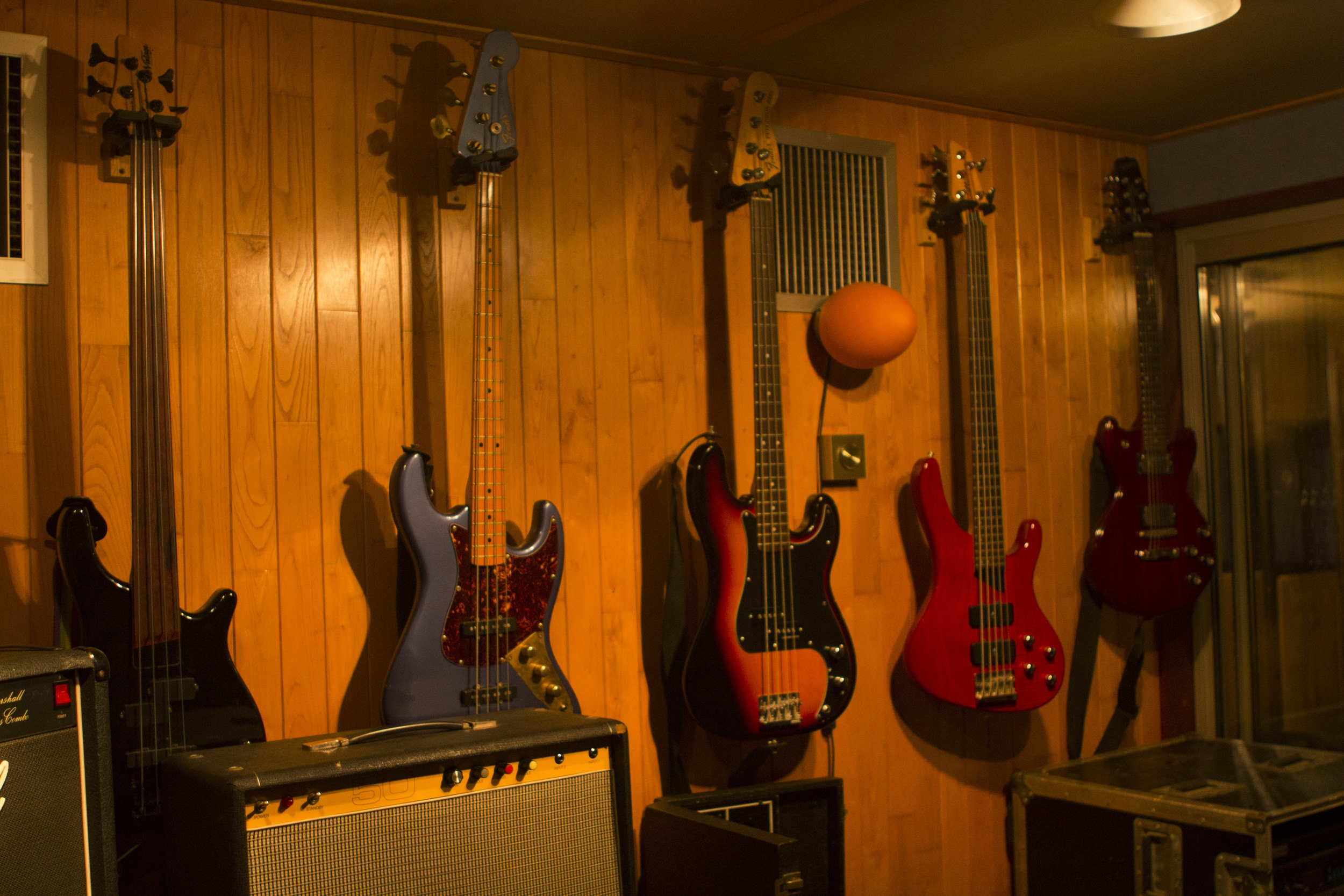 Studio 1 - Photography. Westland Studios. Guitars. Bass Guitars. Music. Dublin, Ireland