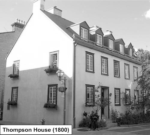 James Thompson (1793) 47 rue Ste Ursule, Ville de Québec