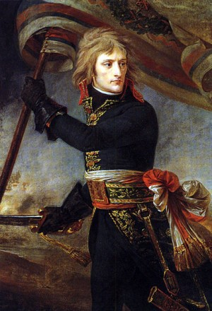 Napoléon au pont d'Arcole en Italie en 1796 Il avait alors 27 ans.