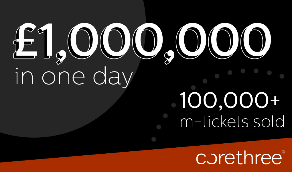 100000 mobile tickets issued in one week by Corethree