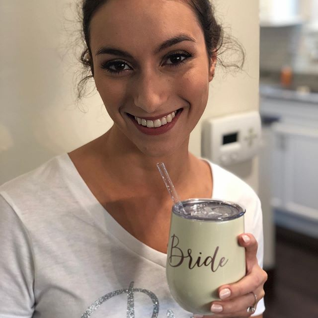 How cute is she?! Such a fun and beautiful bride! * * * * * * * #makeup #makeupartist #bride #buffalobrides #buffaloindieweddings #weddingmakeup #bridalmakeup #bridalmakeupartist #naturalbeauty #airbrushmakeup #buffalo #buffalove #wny #freelancemakeupartist #freelance #cosmetics #theknot #weddingwire #buffalowedding #wedding #beauty #styling #natural #makeup #beautiful #weddingday #eventmakeup #specialevent