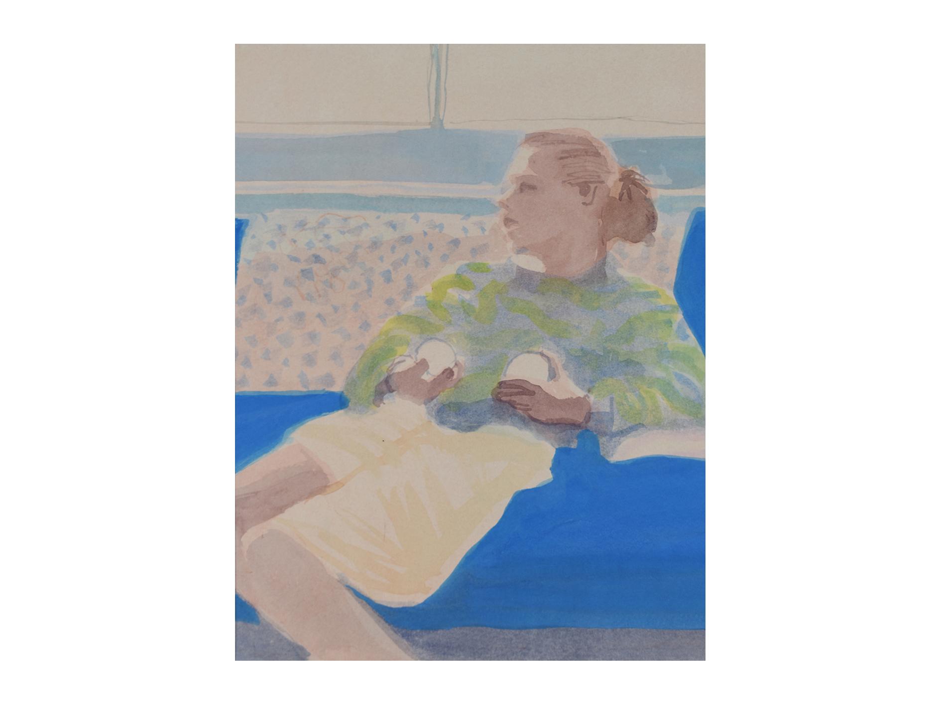 Blue Magic    Watercolour and gouache 19 x 23cm
