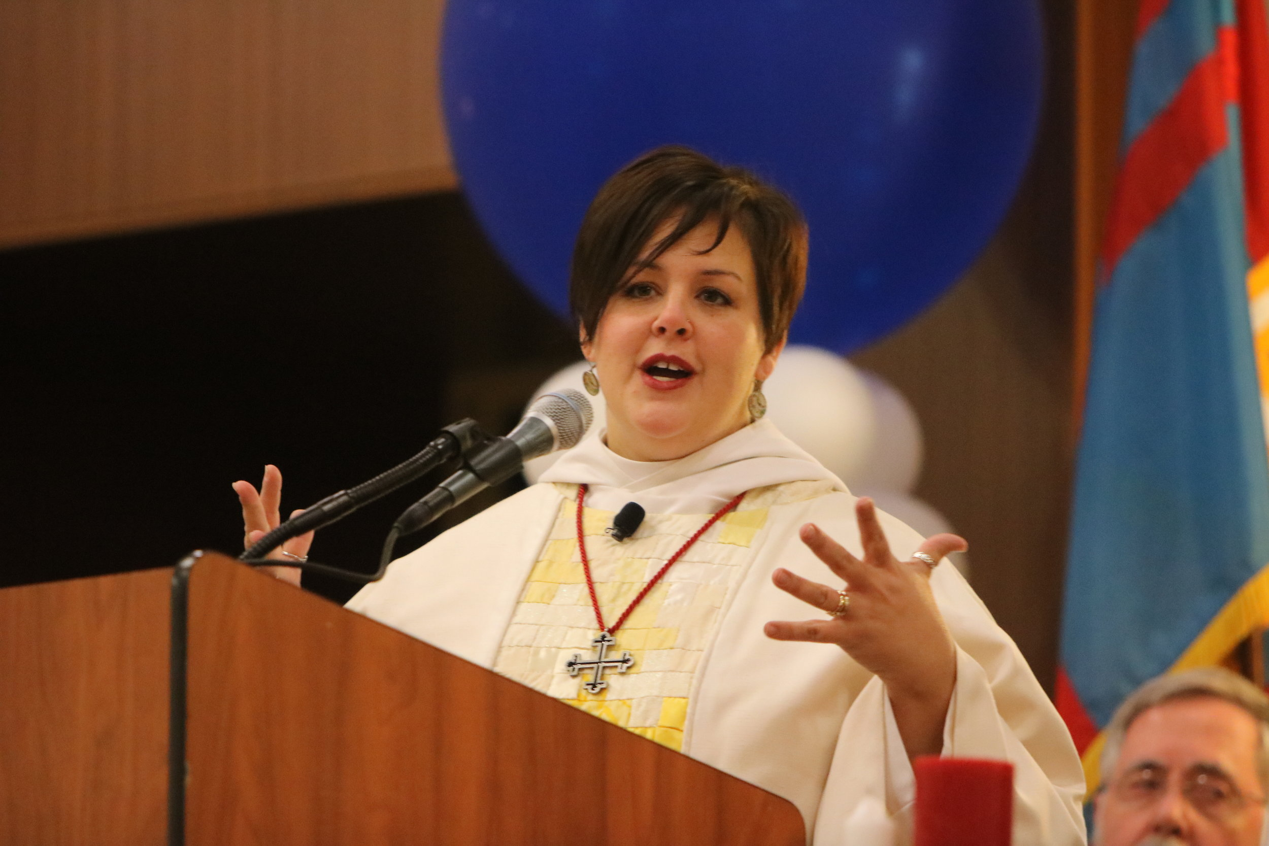 2016 11 11 Diocesan Convention 148 credit Sue Cenci Carrie Schofield-Broadbent preaches.JPG