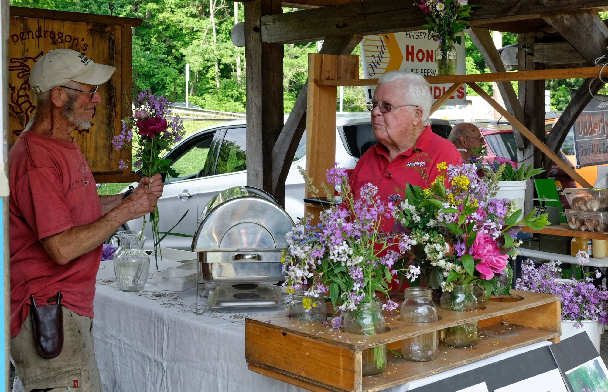 Meet our Vendors - Nestled inside the beautiful Village Park, our seasonal vendors gather weekly to bring fresh vegetables & fruit, cheeses, wine, artisan crafts, and hearty dinners. All vendors are within a 30 mile radius of Trumansburg to ensure you receive quality goods from your home in the Finger Lakes!Click here to see our 2019 vendor list.