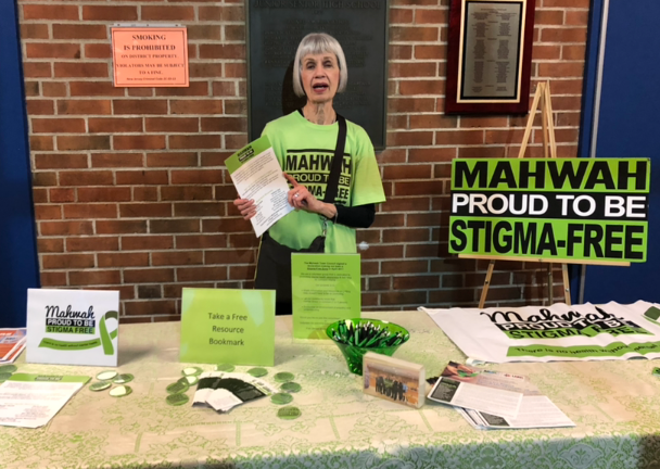 """Mary Casey, Mahwah Stigma-Free committee at MHS for MMA's presentation """"Mental Health Awareness"""""""