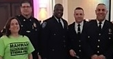 Sharon Pushie, Mahwah Stigma-Free with Hero Port Authority Police Officers from the Suicide Squad…Saving Lives