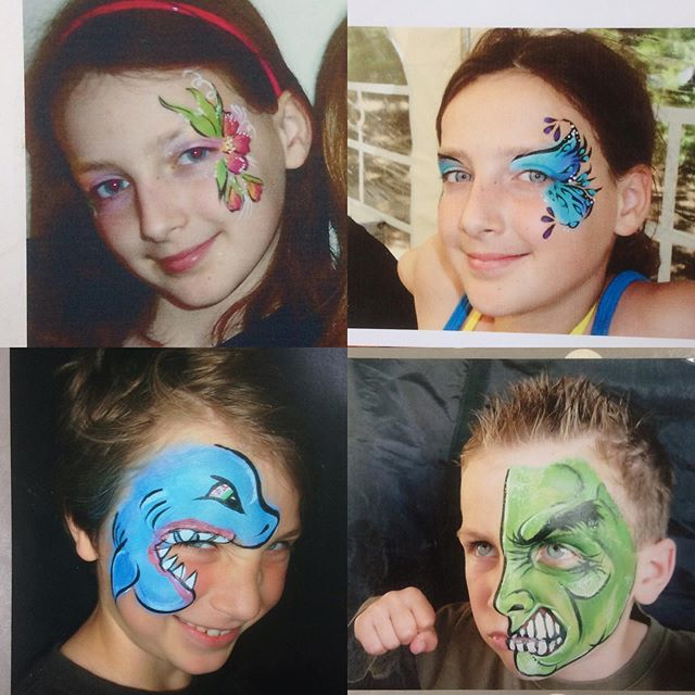 Last few days to enter the competition, it ends on Saturday 1 June... Here's a few old photos of my kids when they used to love getting painted 💕  see the pinned post and post below to enter 😁 Jane x
