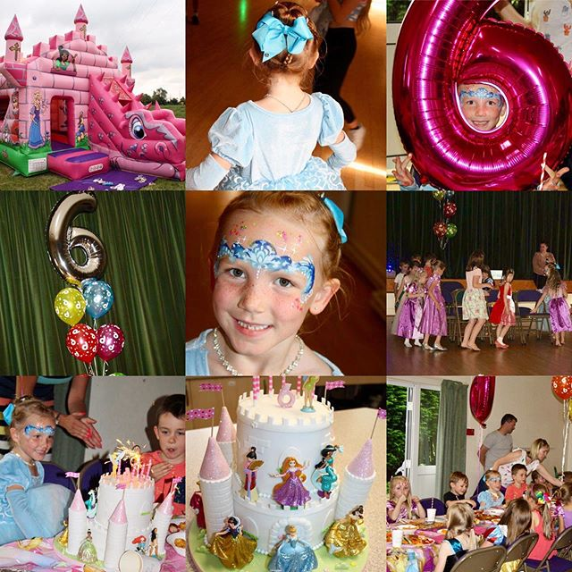 Madeline had a fabulous 6th 'princess' birthday party with all her friends on Saturday. Bouncy castle, musical chairs, face painting, disco and amazing birthday cake✨ #funkyfacesworcs @bbcinflatables