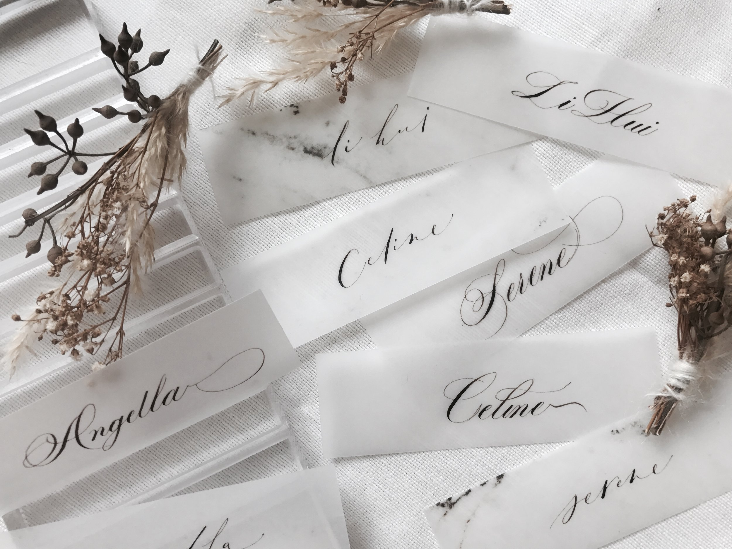 (Placecards) Traditional Calligraphy.jpg