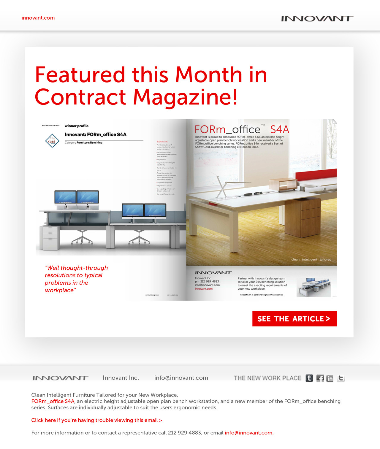 Featured this Month in Contract Magazine!  See the Article >