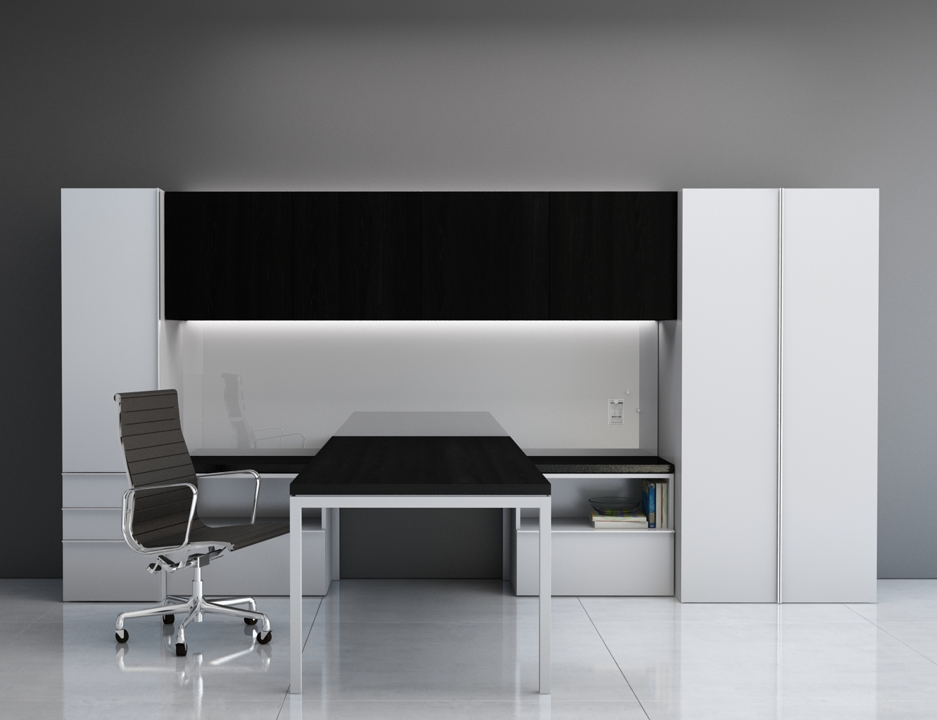 Private Offices - Innovant offers standard and custom private office case goods, desks and tables in a variety of sophisticated finishes, complemented with intelligent cabling and electrics features that can be tailored to suit exact requirements.