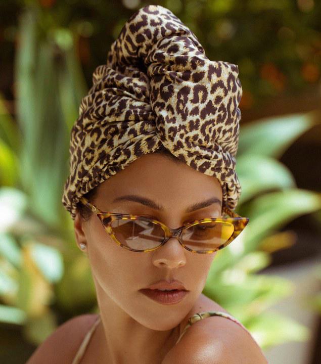 Kourtney Kardashian's Poosh Just Launched an Aquis Leopard-Print Hair-Drying Turban
