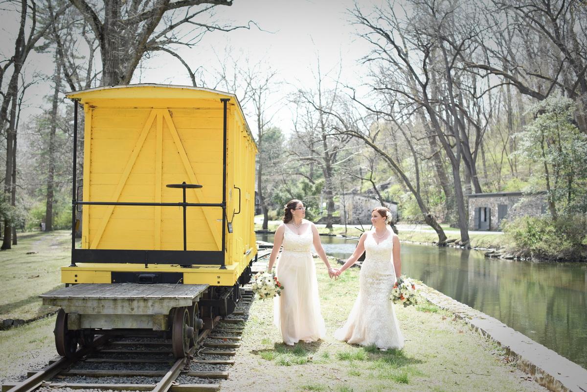 Hagley wedding yellow cabose