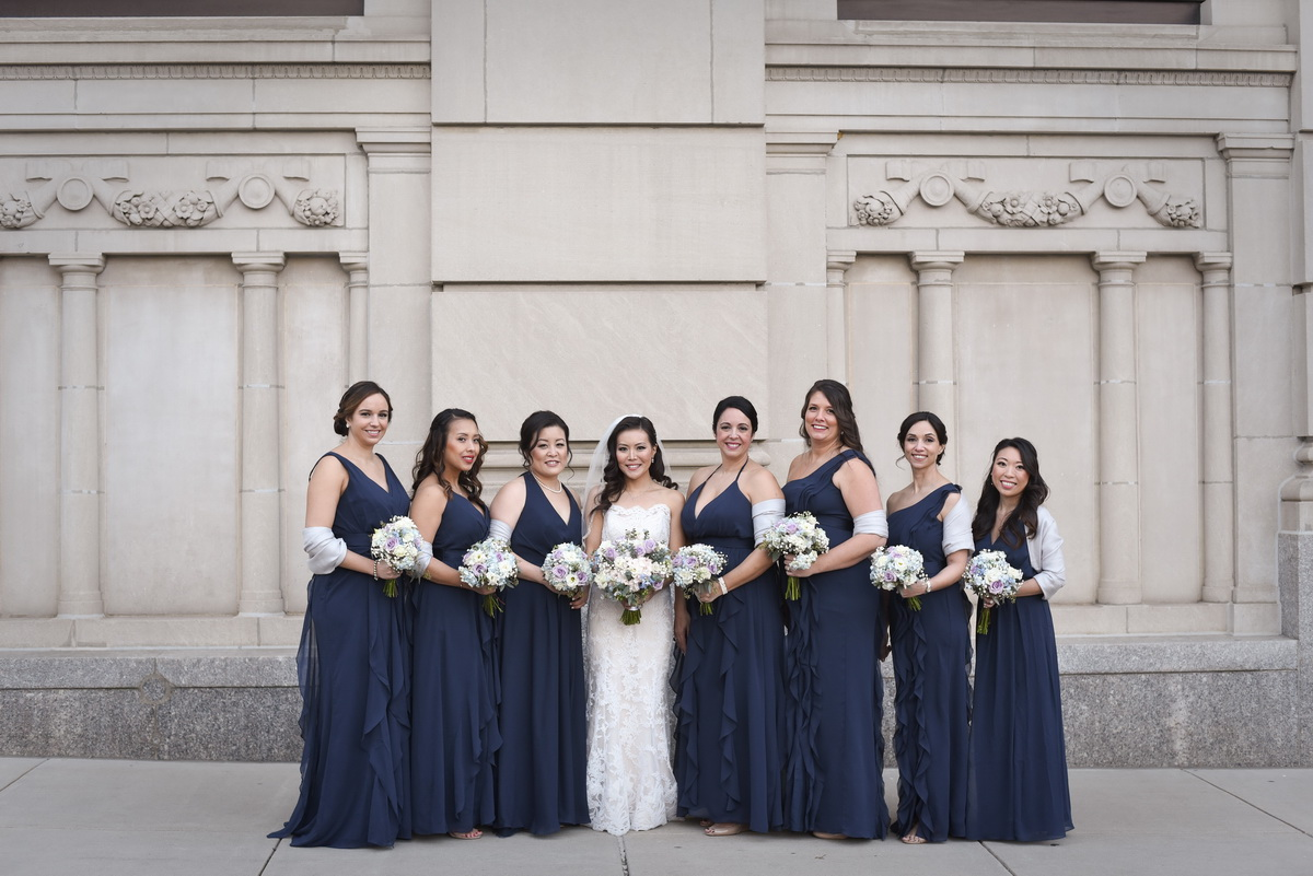 hotel dupont wedding bridesmaids