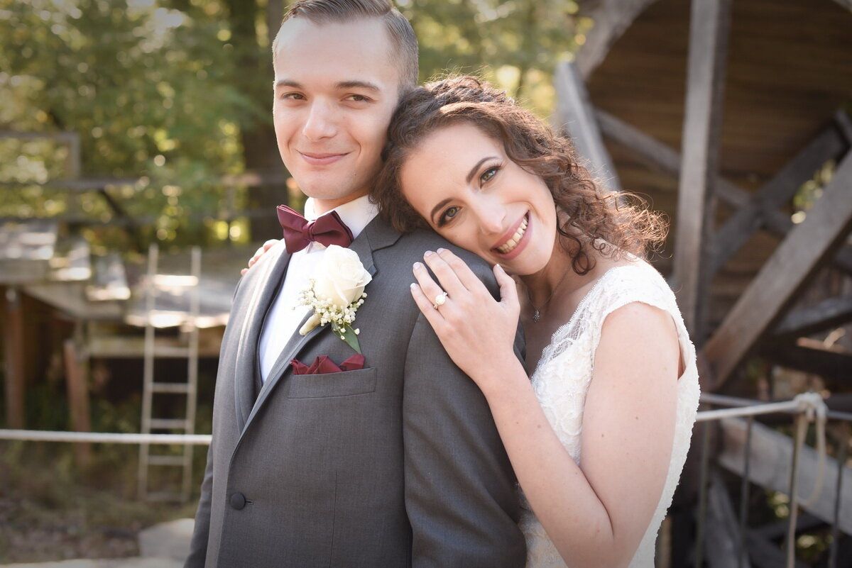 bride and groom at the-stone-barn-kennett-wedding