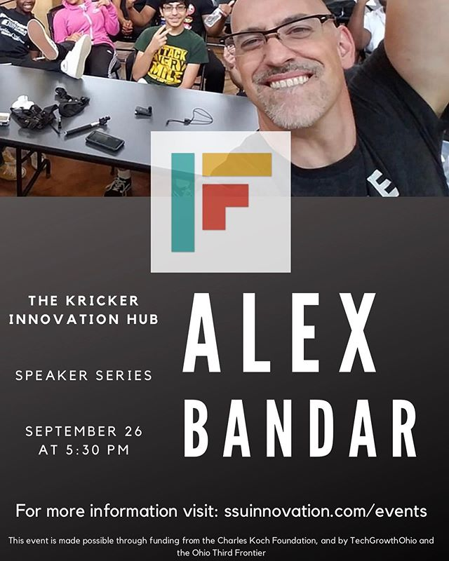 In one week Alex Bandar, founder of the Idea Foundry, one of the largest and most active makerspaces in the world, will be at the Hub. ‍ ‍ ‍ ‍ ‍ ‍ ‍ ‍ ‍ ‍ ‍ Join us next Thursday, Sept. 26th, at 5:30 pm to hear Alex discuss his entrepreneurial journey, makerspaces, and innovation districts.