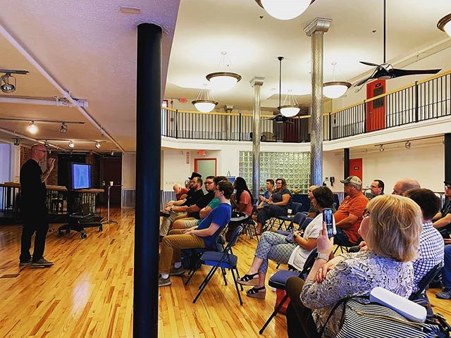 "Great to see everyone who came out last night to hear Alex Bandar. We had a great time hearing his story, and each step in the process of creating the Columbus idea foundry.  Can you imagine taking a leap to start the largest makerspace in the country? Each decision was uncharted territory.  As Alex said, ""if you want to learn how to do something, find someone who's done it before, done it at least twice, succeeded both times, and can tell you why it worked."" That's the power of community spaces like this- great ideas come from different perspectives working together. Have we already created all of the easy ideas?  See you all next time!"
