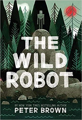 "The Wild Robot - Brown, Pete978-0-316-38199-4After ""surviving"" a shipwreck, Roz the robot finds herself on an island. She seeks out help from the animals who live on the island, hoping they'll teach her survival skills; however, they are all afraid of the ""monster"" who has come to their island."