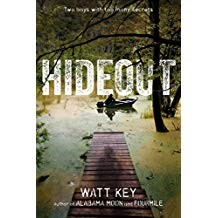 Hideout - Watt KeyHideout has it all with bad guys, police chases (both in cars and boats!), adventure and nights out in nature. Sam was embarrassed when he and a friend were beaten up in front of the whole school and now he's determined to prove himself brave. So when Sam meets Davey living alone in the Alabama swamp he decides to help and gets in way over his head.