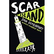 Scar Island - Dan GemeinhartJonathan is the newest boy to arrive at the Slabhenge Reformatory School for Troubled Boys. This type of jail is an ancient, crumbling stone castle located in the middle of the ocean. Jonathan has been court ordered to serve 10 months in the detention center, and he accepts this punishment because he feels guilty and responsible for the crime he was charged. While still in the middle of adjusting to the new situation a freak accident leaves the troubled boys without any adult supervision. A whole island of troubled kids are free to create more trouble. This undeserved freedom brings unexpected danger to all involved. The boys must survive while revealing details about their crimes and the reason they were each sent to the reformatory school.