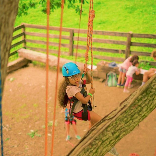 Just hanging out at camp 🧗🏽♀️. Last week we conquered @barefootrepubliccamp 🦶🏿🖤🦶🏿and this week is @adventuresci camp before we set out on a few adventures at the end of June into July.  What are some of your favorite Middle Tennessee summer camps? We also love @ymca_camp_widjiwagan ! But Lord have mercy, it's just as cheap for us to go on vacation 😭🙄😬.