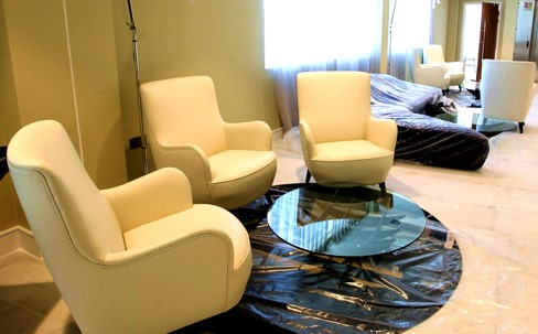 Large reception with seating options