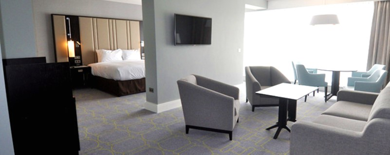 Full fit out of hotel rooms