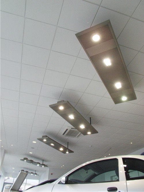 Lighting to match ford corporate branding