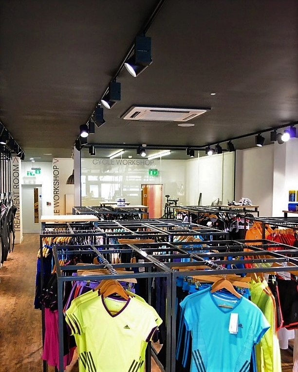 Industrial feel maximising retail space