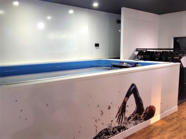 Triathlon training pool in store
