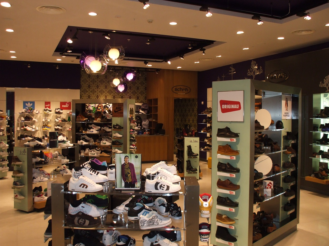 Designed ceiling for adding interest to retail space